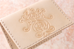 Card Case 'Initial S.T'/ 革製カードケース